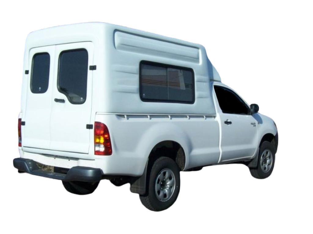 Capota de Fibra Nova Baú Alta 2 Portas para Toyota Hilux Cabine Simples