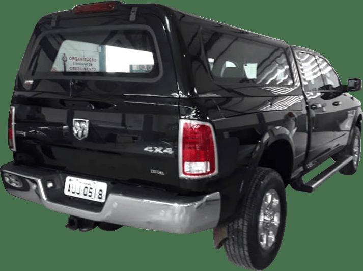 Capota de Fibra Nova Convencional para Dodge Ram Cabine Dupla