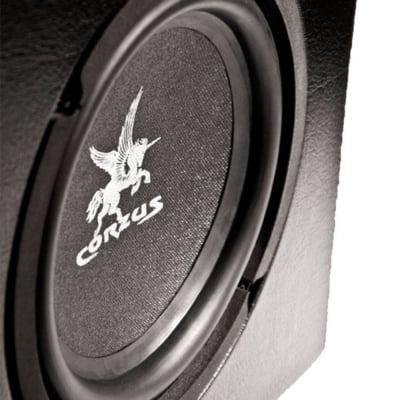 Caixa de Som Automotiva Amplificada Corzus Slim 350W Rms Subwoofer 8 Polegadas + 2 Canais Stéreo
