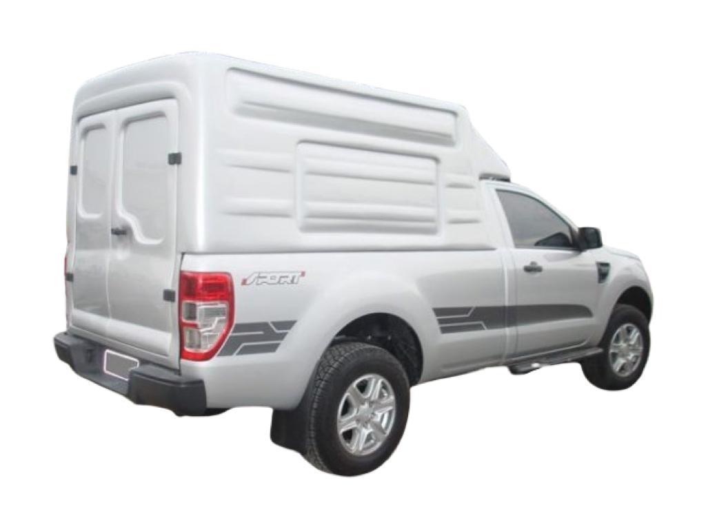 Capota de Fibra Nova Baú Alta 2 Portas para Ford Ranger Cabine Simples