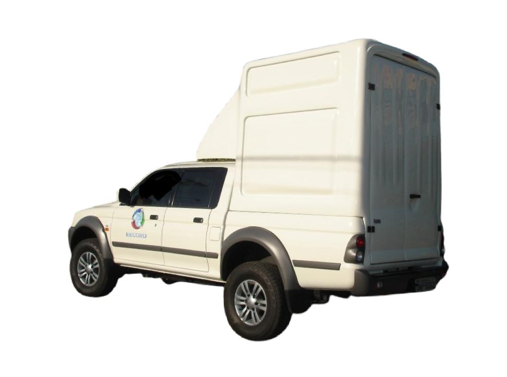 Capota de Fibra Nova Baú Alta 2 Portas para Mitsubishi L200 Cabine Dupla