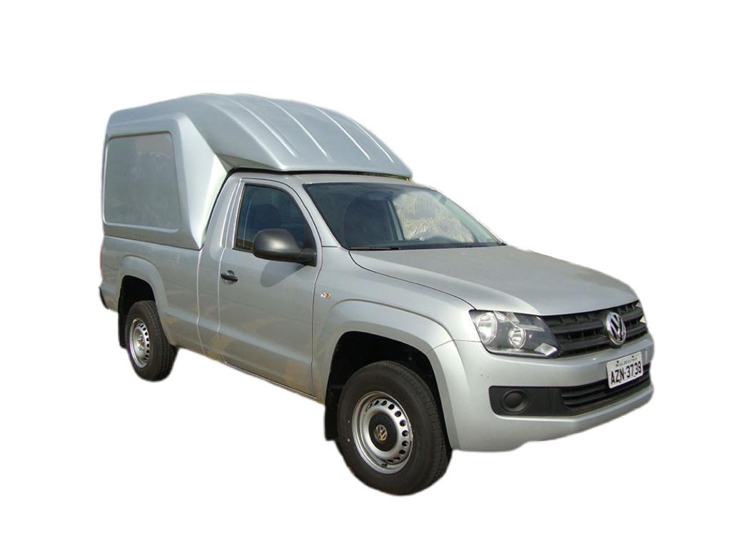 Capota de Fibra Nova Baú Alta 2 Portas para Volkswagen Amarok Cabine Simples