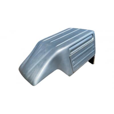 6463 - Capota de Fibra Usada Baú com 1 Porta Traseira para Chevrolet Montana até 2010 Cabine Simples (Prata)