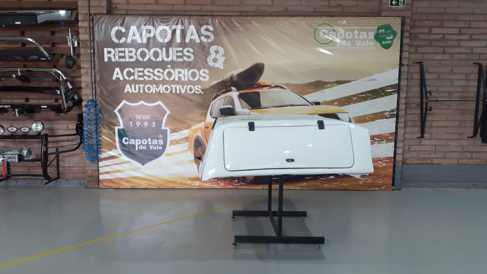 8664 - Capota de Fibra Usada com Portas Laterais para Mitsubishi L200 Sport ano 2017 - 2021 Cabine Dupla (Branca)