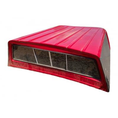 8028 - Capota de Fibra Seminova com Vidro Fixo Dodge Ram 2008 (Vermelha)