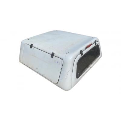 8205 - Capota de Fibra Seminova S10 C/D 2012 - 2021 com Portas Laterais e Vidro Traseiro (Branca)