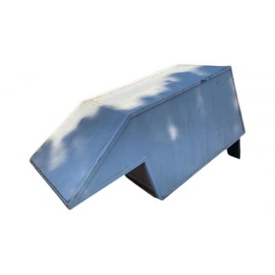 5571 - Capota Baú de Alumínio Usada com 1 Porta para Ford Courier Cabine Simples (Branca)