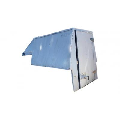 5571 - Capota de Alumínio Seminova Courier Baú Alta com 1 Porta (Branca)